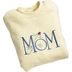 Personalized Mom Embroidered Sweatshirt