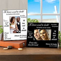 Personalized Wedding Picture Frame in Black and White Designs