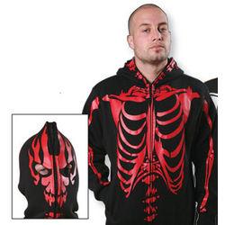 Flaming Devil Hooded Sweatshirt