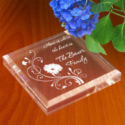 Personalized Blooming Flowers Paperweight