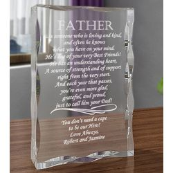 Personalized What it Means to be a Father Plaque
