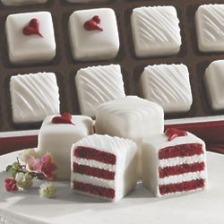 Red Velvet Petits Fours Gift of 15