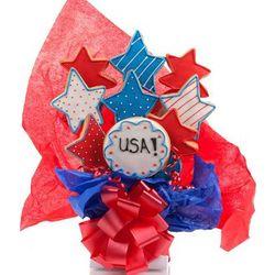 Patriotic Cookie Bouquet