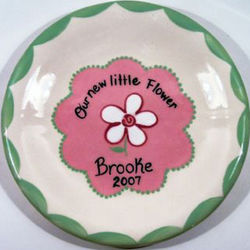 Our New Little Flower Personalized Keepsake Plate