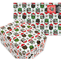 Santa Monsters Wrapping Paper