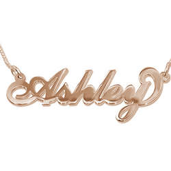 18K Rose Gold Plated Name Necklace