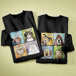 Pet Lovers Dog or Cat Sweatshirt