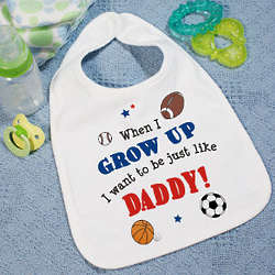 When I Grow Up Personalized Sports Bib