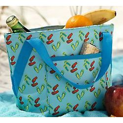 Insulated Flip Flop Pattern Lunch Tote
