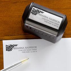 Floral Message Self-Inking Address Stamper