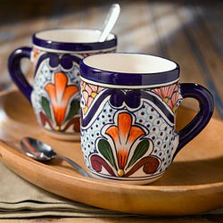 Talavera-Style Mug Set
