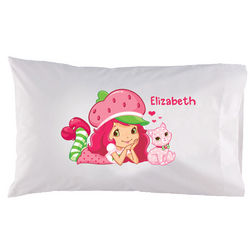 Strawberry Shortcake Kitty Pillowcase