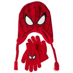 Spider-Man Knit Hat and Gloves