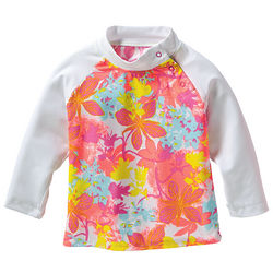 Girl's Infant UPF Floral Rash Guard