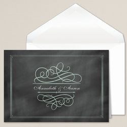 Contemporary Chalkboard Couple's Thank You Notes
