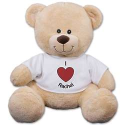 Personalized I Heart You T-Shirt Teddy Bear