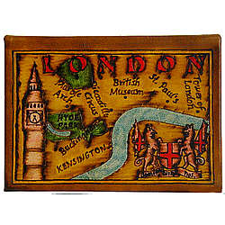 Map of London Leather Photo Album