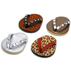 Leopard Print Diva Flip Flop Coasters