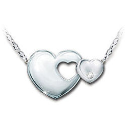Always My Daughter Sterling Silver Diamond Necklace