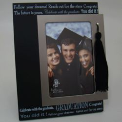 """Follow Your Dreams"" Graduation Tassel Personalized Frame"