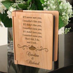 Personalized I Will Always Love You Wooden Photo Album