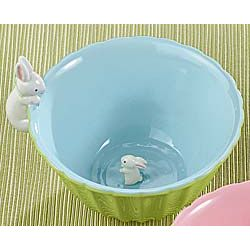 Bunny Surprise Blue Bowl