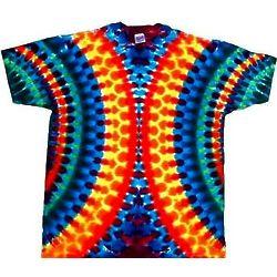 Reverse Vertical Oval Tie Dye T-Shirt