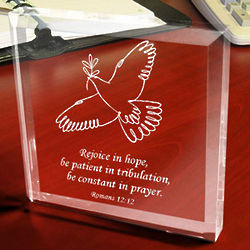 Personalized Spirit of Peace Paperweight