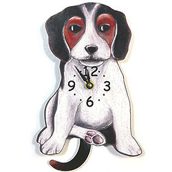 Tail-Wagging Beagle Pendulum Clock