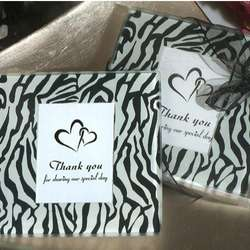 Zebra Print Photo Coaster Favors