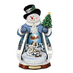 Thomas Kinkade 'Tis the Season To Be Jolly Musical Snowman