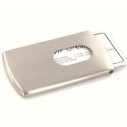 Personalized Side-Loading Stainless Steel Business Card Case