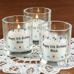 Personalized Birthday Celebration Votive Stickers