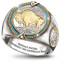 Buffalo Nickel Men's Ring