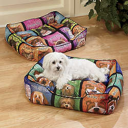 Dog or Cat Print 2-Piece Pet Bed