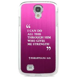 Philippians 4:13 Hot Pink Case for Samsung Galaxy S4