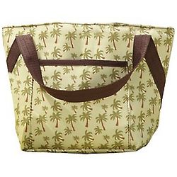 Insulated Palm Tree Pattern Lunch Tote