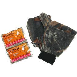 Mossy Oak Camo Fingerless Mittens with Hot Packs