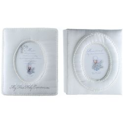 First Communion Satin Album and Frame Set