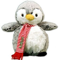 Personalized and Embroidered Christmas Penguin Stuffed Animal