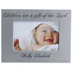 Personalized Children are a Gift Bible Verse Picture Frame