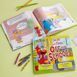 Personalized Sesame Street Off To School with Elmo Book