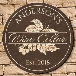 """Rhone Valley 15.5"""" Personalized Wine Cellar Sign"""