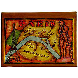 Map of Paris Leather Photo Album