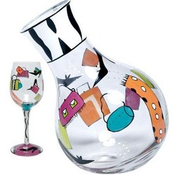 Shopaholic Wine Glass & Decanter Gift Set