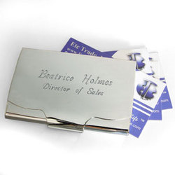 Personalized Make Your Own Business Card Holder