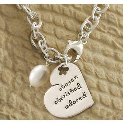 Chosen, Cherished, Adored Charm Bracelet