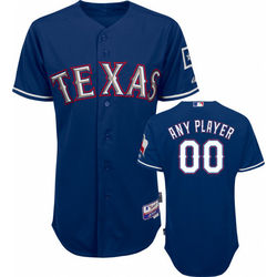 Texas Rangers 2010 Alternate Royal Blue On-Field Jersey