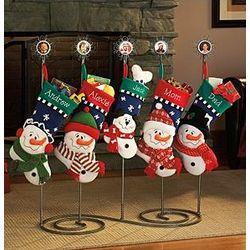 3-D Snow Family Stocking