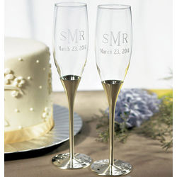 Personalized Venice Toasting Flutes